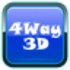 Shock 4Way 3D Icon