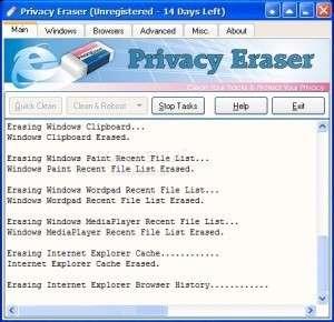 1 Privacy Eraser Screenshot