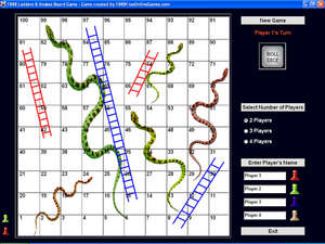 1888 Ladders & Snakes Board Game Screenshot