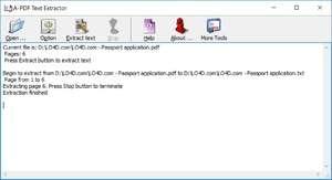 A PDF Text Extractor Screenshot