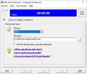 ACA Audio Recorder Screenshot
