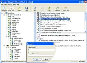 Access Manager for Windows Screenshot