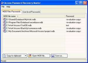 Access Password Recovery Master Screenshot