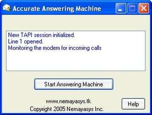 Accurate Answering Machine Screenshot