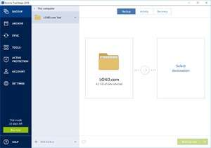 Acronis True Image Screenshot