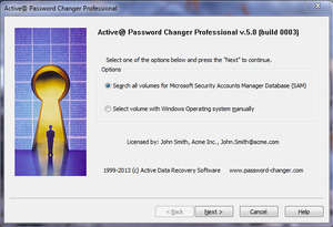 Active Password Changer Screenshot