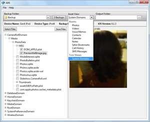Acute iOS Backup Explorer Screenshot