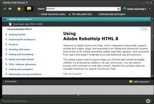 Adobe Help Viewer Screenshot