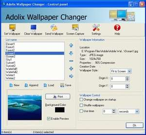 Wallpaper Programs - Screenshot for Adolix Wallpaper Changer