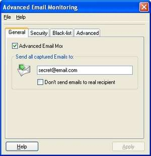 Advanced Email Monitoring Screenshot