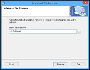 Advanced File Remover Screenshot