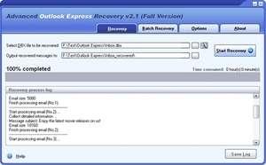 Advanced Outlook Express Recovery Screenshot