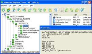 Advanced Registry Tracer Screenshot