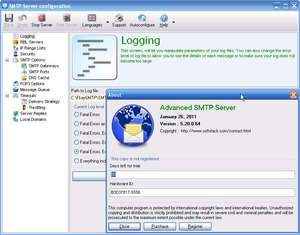 Email Servers - Screenshot for Advanced SMTP Server