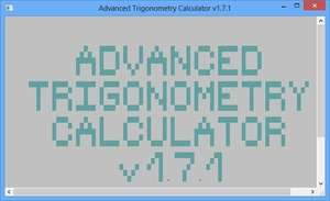 Calculators - Screenshot for Advanced Trigonometry Calculator