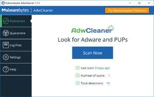 Spyware Removal - Screenshot for AdwCleaner