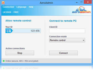 Remote Desktop Programs - Screenshot for AeroAdmin