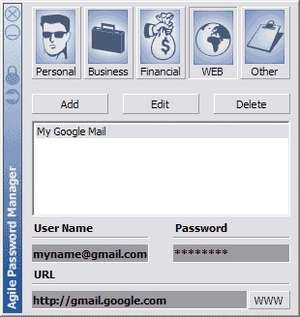 Password Managers - Screenshot for Agile Password Manager