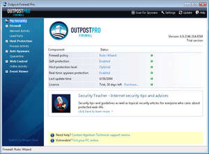 Agnitum Outpost Firewall Pro Screenshot