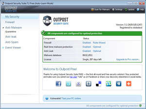 Agnitum Outpost Security Suite Free Screenshot