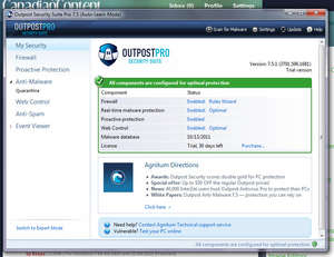 Agnitum Outpost Security Suite Pro Screenshot