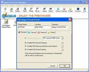 Printing Programs - Screenshot for Alagus Print Port Manager