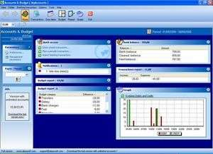 Accounting Software - Screenshot for AlauxSoft Accounts and Budget Free