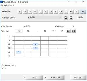 Musical Instrument Software - Screenshot for Alternate Chord