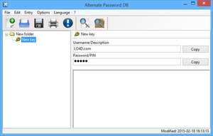 Password Managers - Screenshot for Alternate Password DB