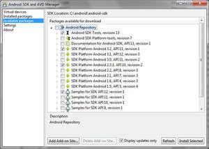 Android SDK Tools Screenshot