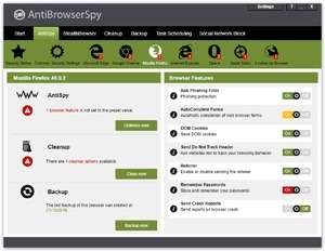 AntiBrowserSpy Screenshot
