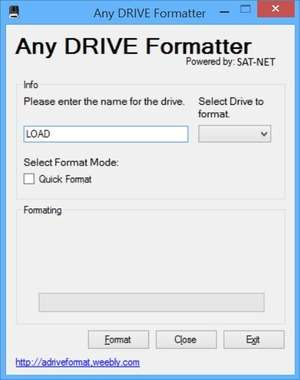 Any DRIVE Formatter Screenshot