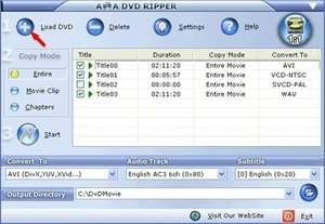 AoA DVD Ripper Screenshot