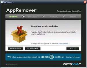 AppRemover Screenshot