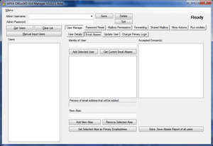 APVA Office 365 GUI Manager Screenshot
