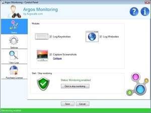 Argos Monitoring Screenshot
