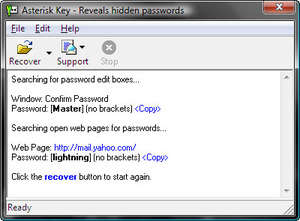 Asterisk Key Screenshot