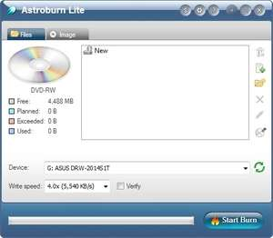CD Burning - Screenshot for Astroburn Lite