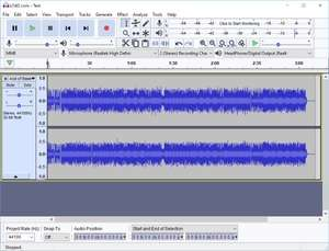 Audacity Portable Screenshot