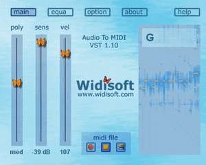 Audio To MIDI VST (PC) Screenshot