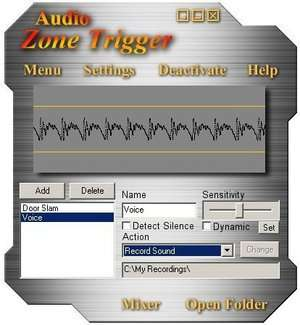 Audio Zone Trigger Screenshot