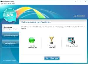 Benchmark Programs - Screenshot for Auslogics Benchtown