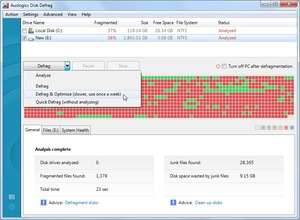 Auslogics Disk Defrag Portable Screenshot