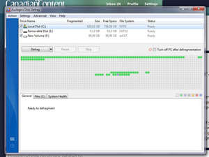Defragmenter - Screenshot for Auslogics Disk Defrag