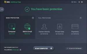 Antivirus Software - Screenshot for AVG Anti-Virus Free Edition
