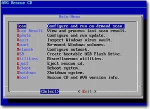 AVG Rescue CD (Portable) Screenshot