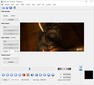 Audio Video Editing - Screenshot for Avidemux