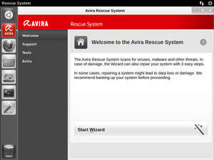 Avira Rescue System Screenshot