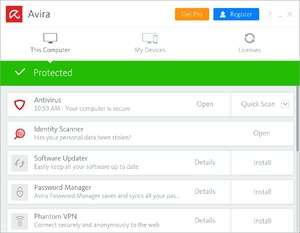 Antivirus Software - Screenshot for Avira