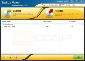Backup Utilities - Screenshot for BackUp Maker Standard